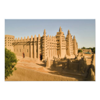 Mosque at Djenne, a classic example of Photo Print