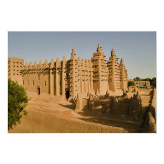 Mosque at Djenne, a classic example of Poster
