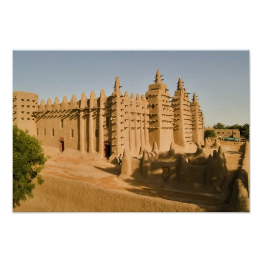 Mosque at Djenne, a classic example of Print