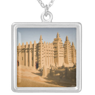 Mosque at Djenne, a classic example of Silver Plated Necklace