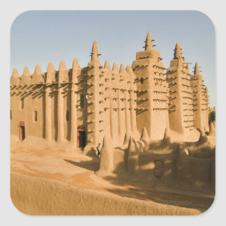 Mosque at Djenne, a classic example of Square Sticker