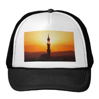 mosque at sunset trucker hat
