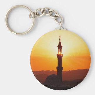 mosque at sunset keychains