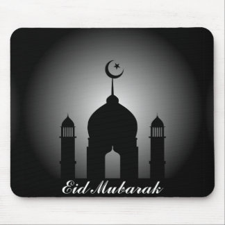 Mosque dome and minaret silhouette mouse pad