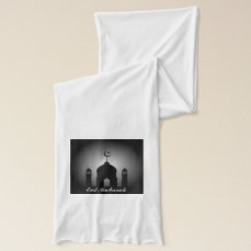 Mosque dome and minaret silhouette scarf