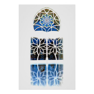 Mosque Foyer Window 1 white Poster