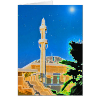 mosque glow greeting card
