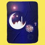 Mosque in Crescent Moon Baby Blanket