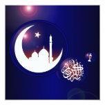 Mosque in Crescent Moon Invitation