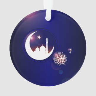 Mosque in Crescent Moon Ornament