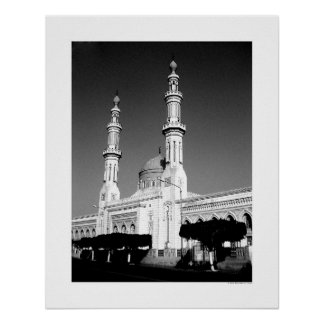 Mosque in Tripoli (B&W) Poster