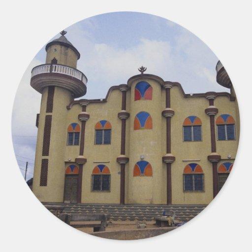 Mosque near the Rond Point Atake, Porto novo, Beni Stickers