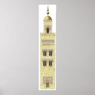 Mosque of Cordoba Spain. 10th century minaret. Poster