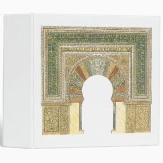 Mosque of Cordoba Spain. Mihrab 3 Ring Binder