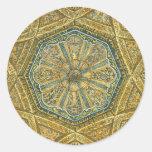 Mosque of Cordoba Spain. Mihrab cupola Classic Round Sticker