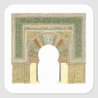 Mosque of Cordoba Spain. Mihrab Square Sticker
