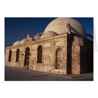 Mosque of Hassam Pasha, Xania, Crete, Greece Greeting Card