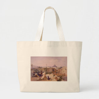 Mosque of Omar Shewing the Site of the Temple Large Tote Bag