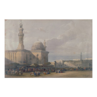 Mosque of Sultan Hasan from Great Square Rumeyleh Poster