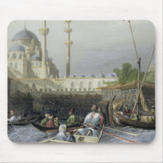 Mosque of Sultana Valide from the Port, engraved b Mouse Pad