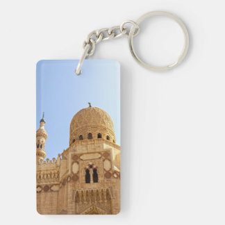 mosque rectangular acrylic key chains