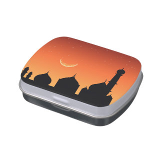 Mosque Silhouette Evening Sky - Candy Tin