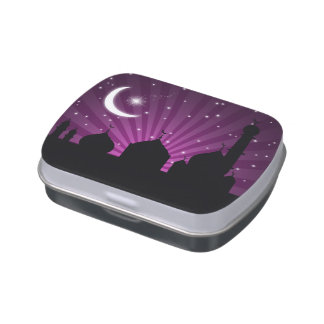 Mosque Silhouette Purple Night - Candy Tin