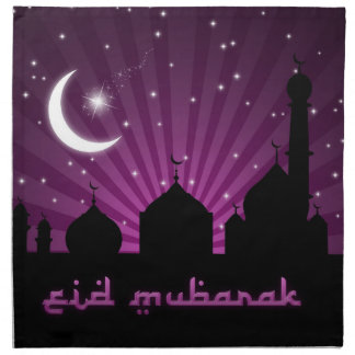 Mosque Silhouette Purple Night - Napkin
