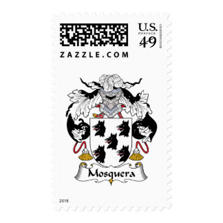 Mosquera Family Crest Postage Stamps