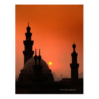 Mosques at Sunset Postcard