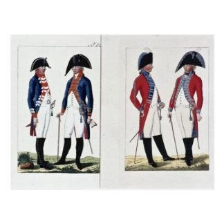 Mosqueteros y oficiales, 1800 tarjetas postales