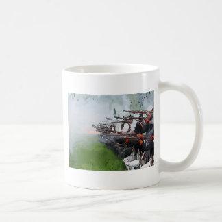 Mosquetes de la leña de la infantería taza de café
