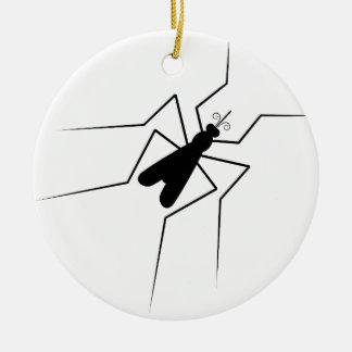 Mosquito Adorno Navideño Redondo De Cerámica