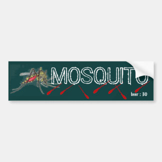 MOSQUITO beer Car Bumper Sticker