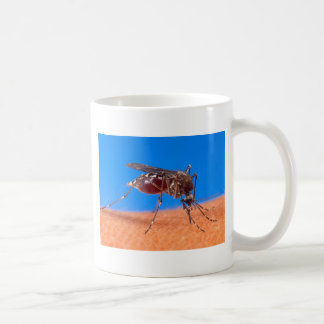 Mosquito Biting Classic White Coffee Mug
