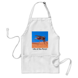 Mosquito Biting - Life of the Party! Adult Apron