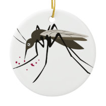 Mosquito Ceramic Ornament