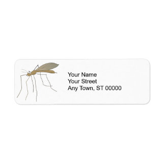 mosquito crane fly label