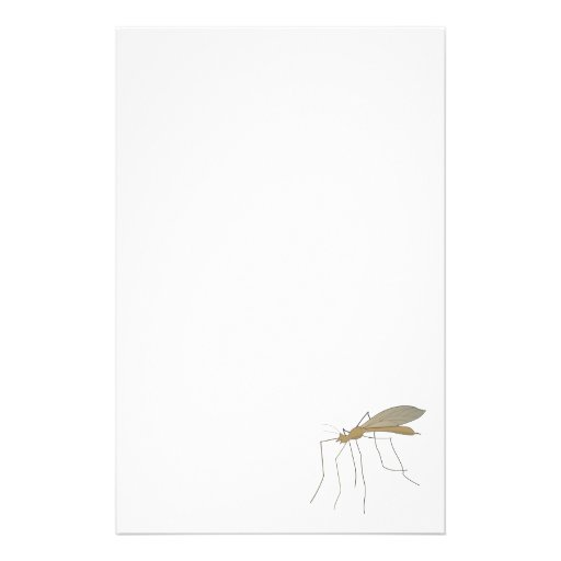 mosquito crane fly personalized stationery
