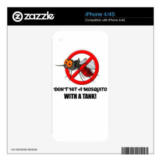 mosquito don't hit it with a tank decals for the iPhone 4S