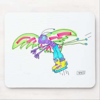 MOSQUITO MAN by Susan McGraw Keber Mouse Pad