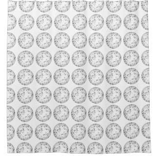 Mosquito pattern shower curtain