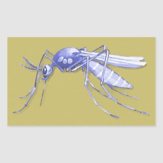 Mosquito Pop Art Rectangle Sticker