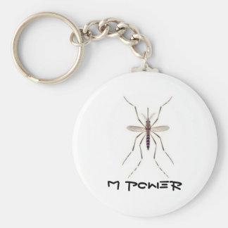Mosquito  POWER Basic Round Button Keychain