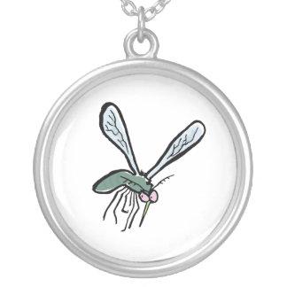 mosquito round pendant necklace