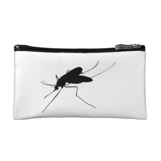 Mosquito Silhouette Nuisance insect/bug pest Makeup Bag