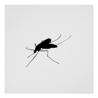 Mosquito Silhouette Nuisance insect/bug pest Poster