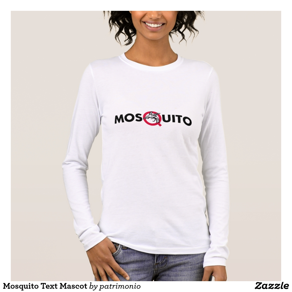 Mosquito Text Mascot Long Sleeve T-Shirt - Best Selling Long-Sleeve Street Fashion Shirt Designs