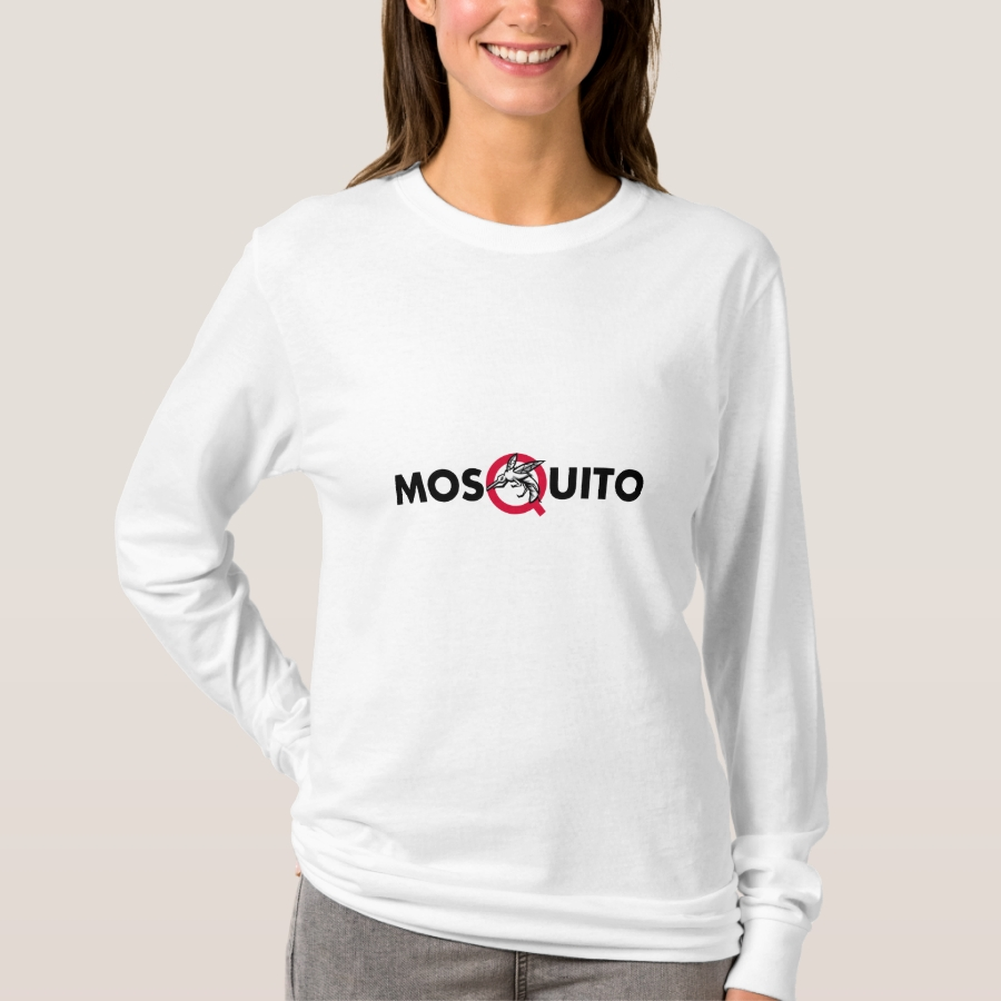 Mosquito Text Mascot T-Shirt - Best Selling Long-Sleeve Street Fashion Shirt Designs