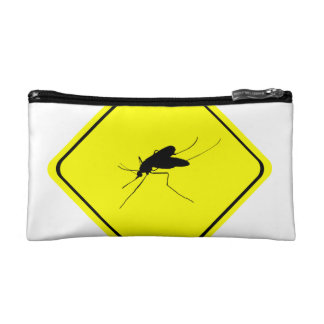 Mosquito Warning Sign Nuisance insect/bug pest Makeup Bag